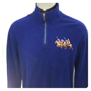 Polo Ralph Lauren Triple Big Pony 1/4 Zip XL